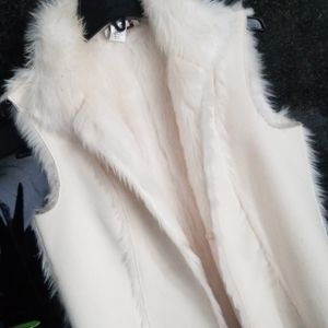 Faux Shearling Vest S to XS